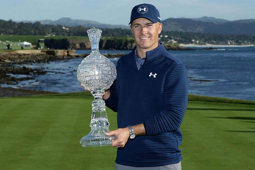 Jordan Spieth won the AT&T Pebble Beach Pro-Am at Pebble Beach Golf Links on Feb 12, 2017, in California, US.