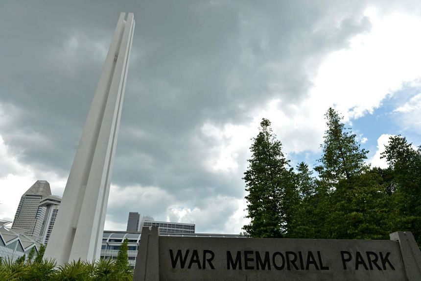The Civilian War Memorial along Beach Road, commemorating those who died during the Japanese Occupation during WWII.