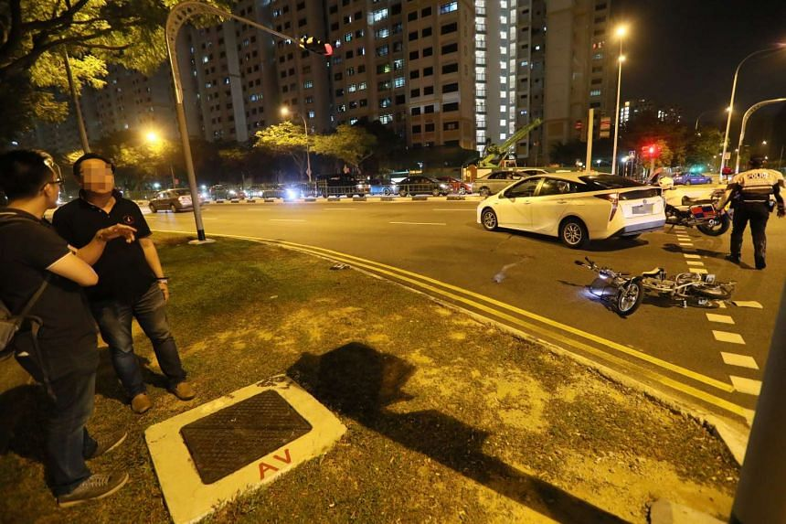 Mr Ng Cheo Kok, 57, died after he got into an accident with a car while riding his electric bicycle.