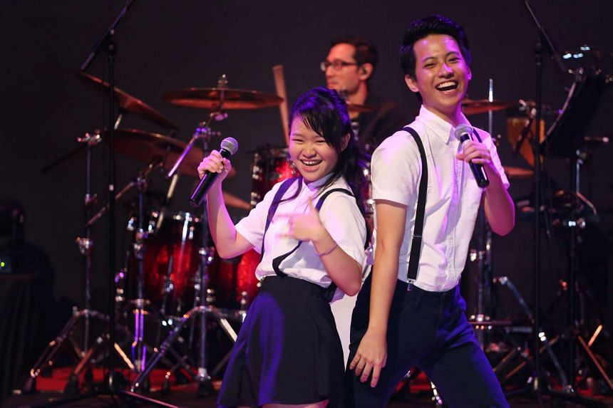 Joyce Seah and Lim Wei Xiang won the singing group category at the National Schools Xinyao Singing and Song Writing Competition 2016.