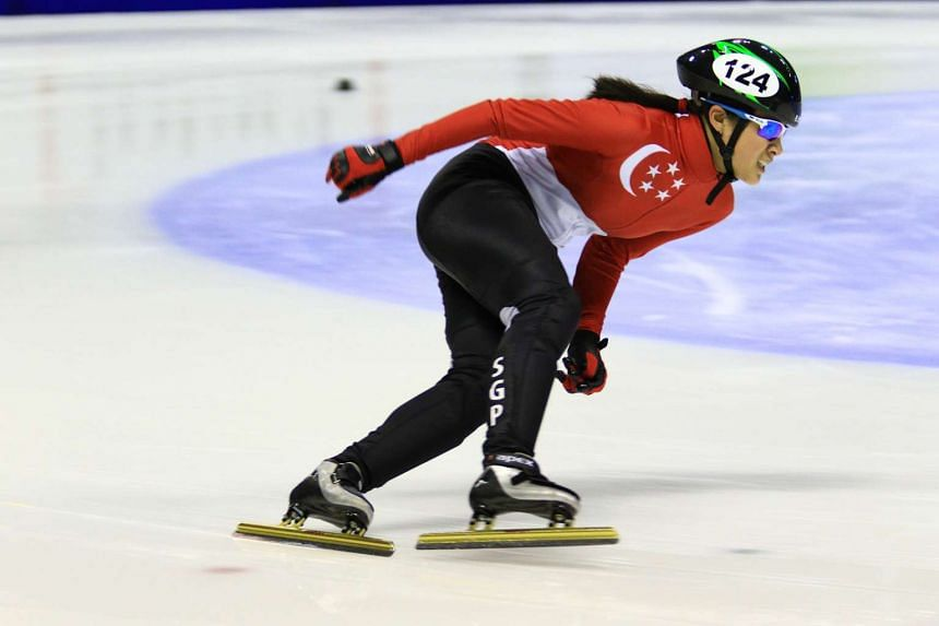 Singapore short-track speed skater Cheyenne Goh will also be competing at the Asian Winter Games in Sapporo.