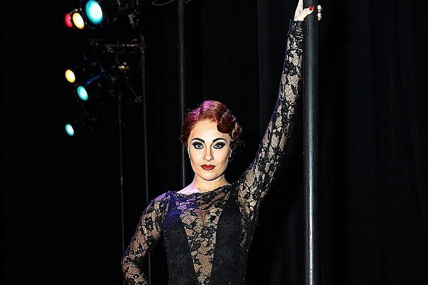 British actress Lindsey Tierney says she is fun and flirtatious, like the Roxie Hart she plays.