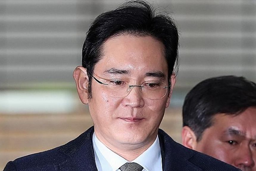 Mr Lee faced another round of questioning yesterday by South Korea's special prosecutor.