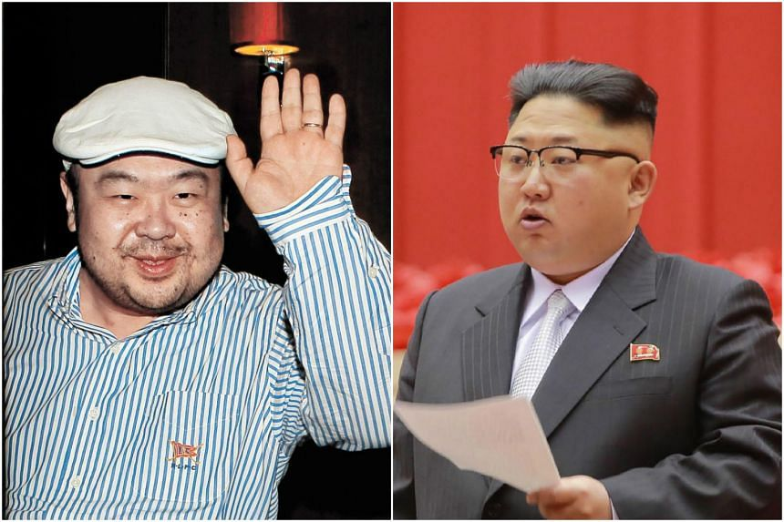Kim Jong-Nam (left), the half-brother of North Korean leader Kim Jong-Un (right) has been assassinated in Malaysia, South Korea's Yonhap news agency said on Feb 14, 2017.