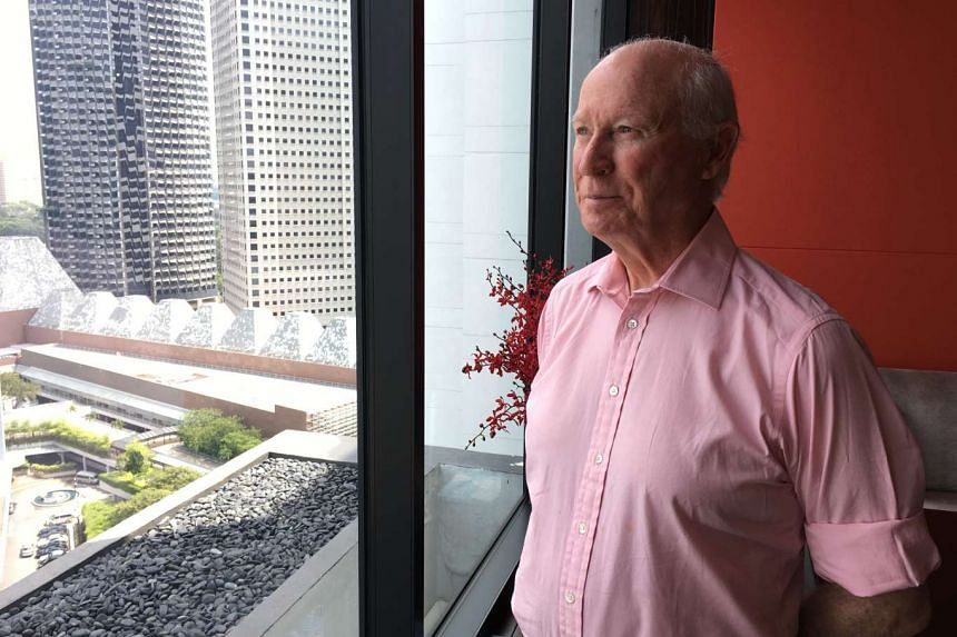 Retired British Army Colonel Ronald McCrum, author of the book The Men Who Lost Singapore.