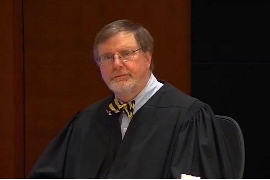 US District Judge James Robart rules on the travel ban imposed by US President Donald Trump in this framegrab from a video.