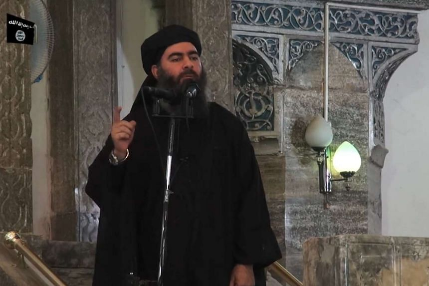 An image grab taken from a propaganda video allegedly shows ISIS leader Abu Bakr al-Baghdadi.