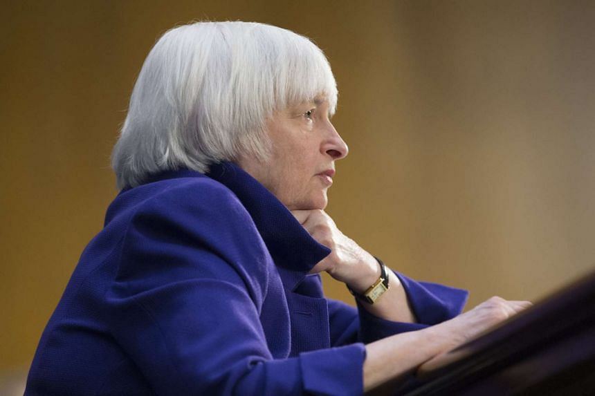Federal Reserve chair Janet Yellen presented an upbeat view of the economy in her testimony to Congress, noting labour market conditions continue to improve and inflation is inching up to the Fed's 2 per cent target.