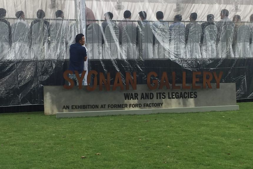 """The main signage was tweaked to reflect the full name of Syonan Gallery with the addition of """"War and its Legacies"""" and """"An Exhibition at Former Ford Factory""""."""