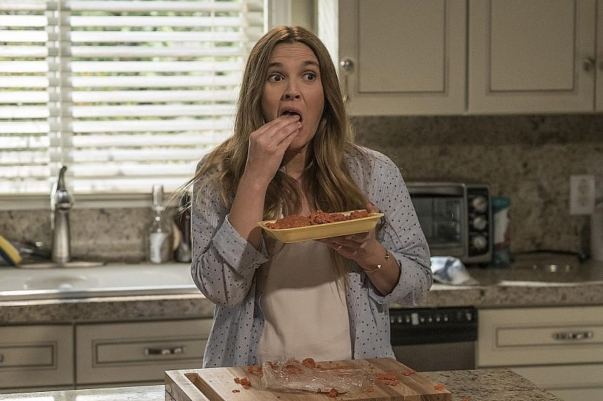 Drew Barrymore plays a flesh-eating mother, Sheila, in Santa Clarita Diet.
