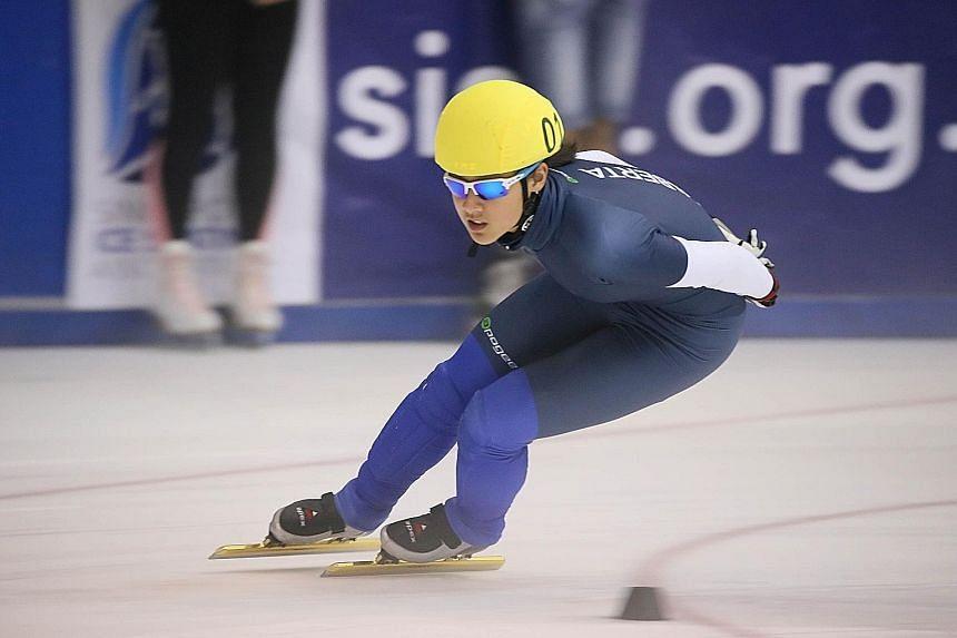 Short-track speed skater Cheyenne Goh is among 21 Asian Winter Games debutants.