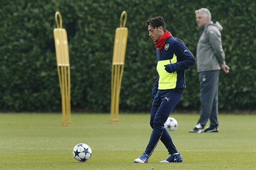 Arsenal manager Arsene Wenger will be hoping for off-form German playmaker Mesut Ozil to sparkle against Bayern Munich in the first leg of their last-16 tie, which will be played at the home of the German champions.