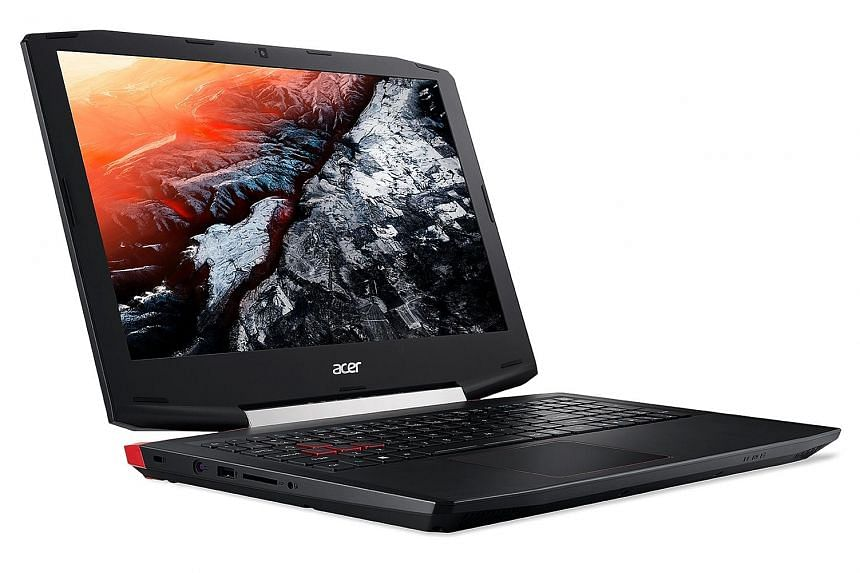 The Acer Aspire VX 15 is a capable gaming laptop. Its comes with the latest Intel Core i7 processor and has two storage drives - a fast 128GB solid-state drive for apps and a slower but larger 1TB hard drive for data.