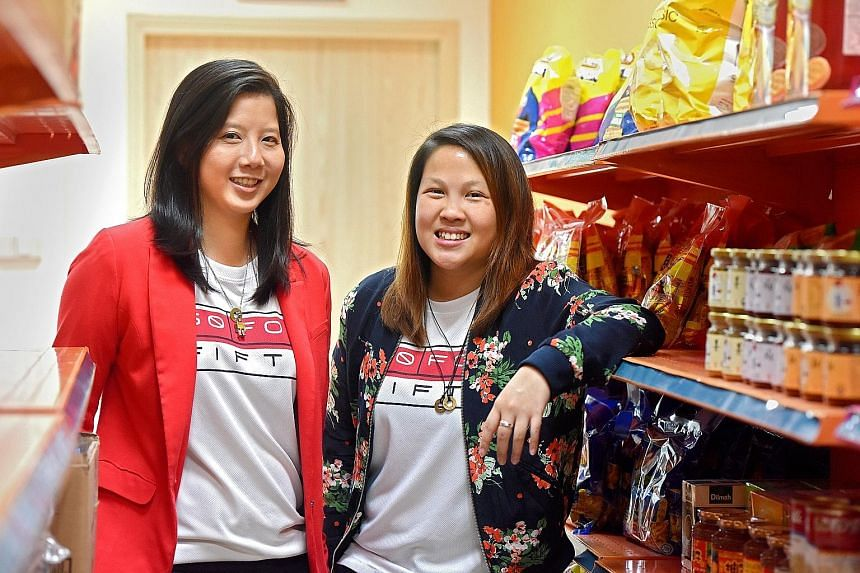 Co-founders Ms Chong (left) and Ms Lin of The Social Co, a think-tank aimed at solving social issues. Their new initiative, The Social Pantry, provides employment to people with disabilities.