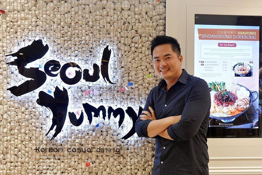"""Seoul Yummy's Mr Lau wants to take the restaurant chain overseas but says """"it is not easy to find people who are willing to station themselves in a foreign land and fight for you, especially for SMEs""""."""