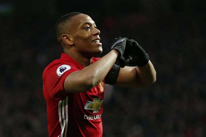 Manchester United's Anthony Martial, 21, made his way in football as a youth player with Lyon, arch-rivals of Saint-Etienne in France.
