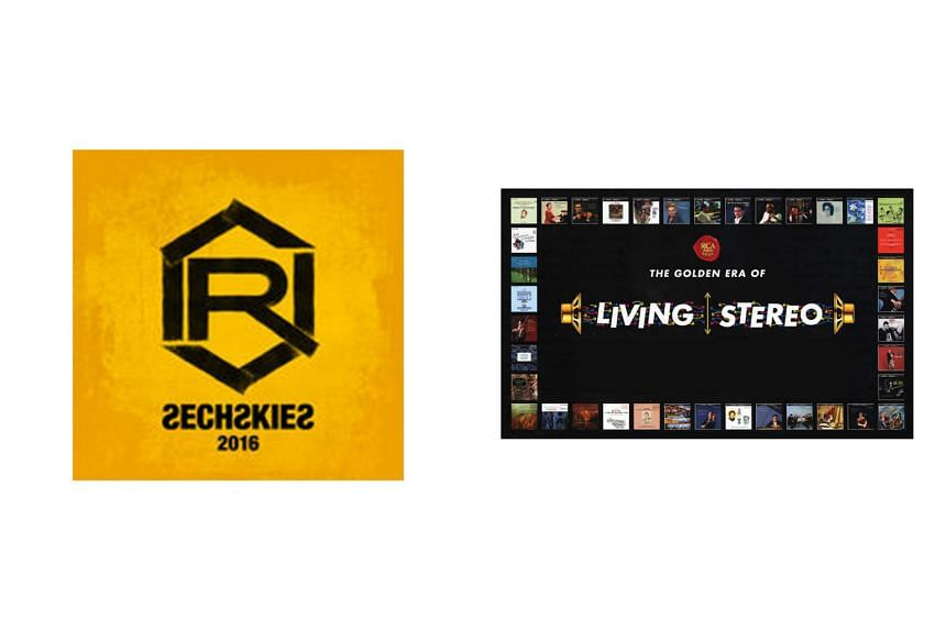"""First-generation K-pop boyband Sechskies' """"new"""" album titled 2016 Re-Album (left) and The Golden Era Of Living Stereo: Remastered Collector's Edition, the third collectors' edition box set of RCA Red Seal Living Stereo."""
