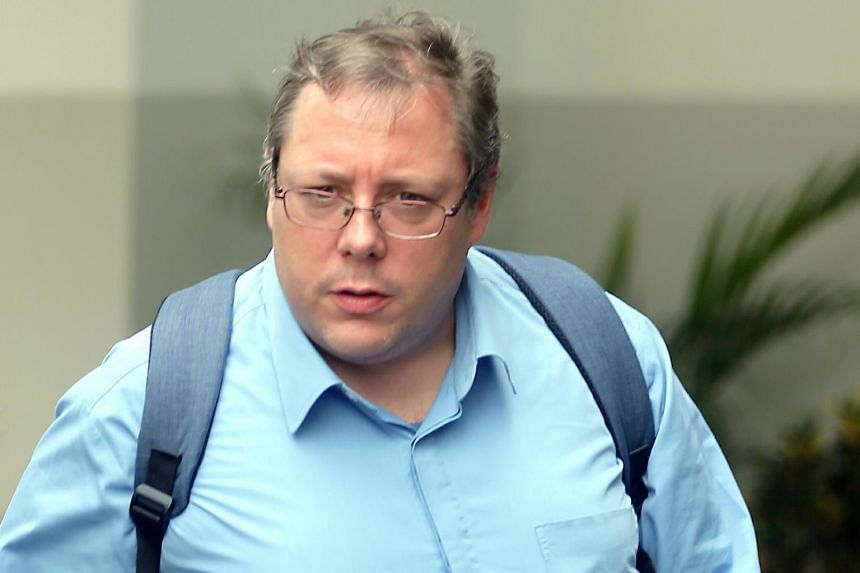 Michael Frank Hartung is accused of distributing information intended to promote commercial sex with a minor outside of Singapore.