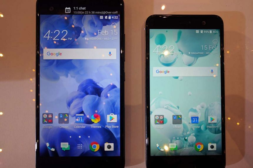 The HTC U Ultra (left) will be released on Feb 25 at $898, while the U Play will be released in March and costs $548.