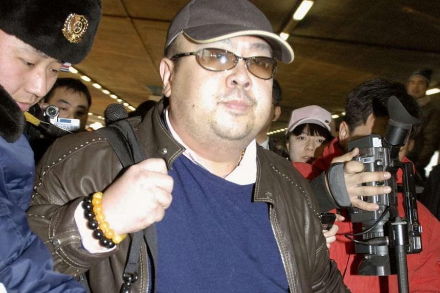 Kim Jong Nam arriving at Beijing airport in Beijing, China, in this photo taken by Kyodo, on Feb 11, 2007.
