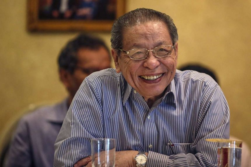 Democratic Action Party (DAP) adviser Lim Kit Siang reacts during a press conference at Petaling Jaya, outside Kuala Lumpur, Malaysia, on Feb 7, 2017.