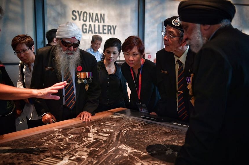 SAF veterans tour Syonan Gallery: War and its Legacies at the Former Ford Factory in Upper Bukit Timah.