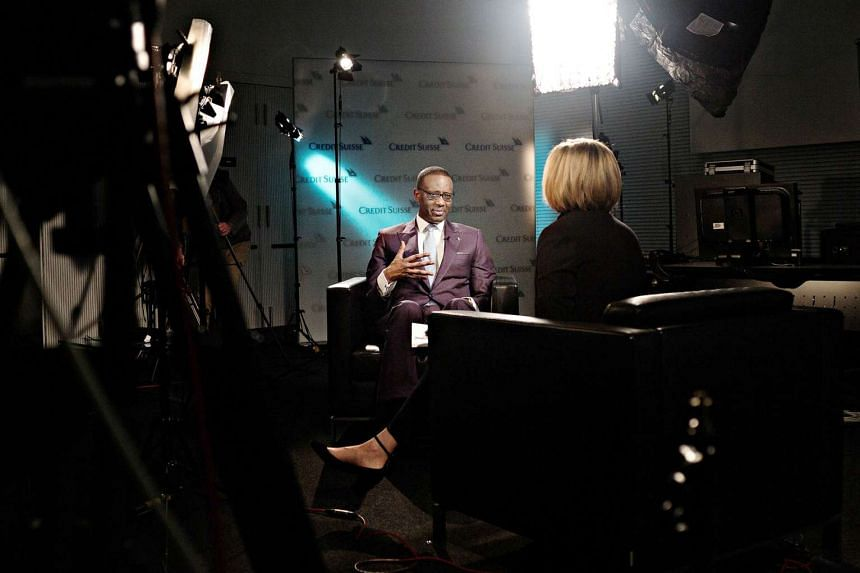 Credit Suisse chief executive Tidjane Thiam said the bank is working on bolstering its capital after an improved market sentiment for banks that boosted trading in the fourth quarter has continued this year.
