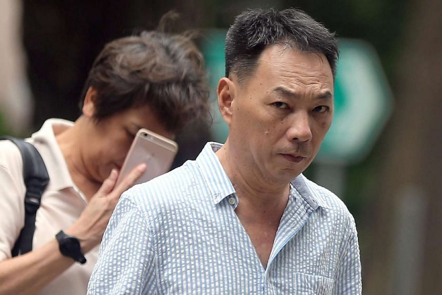 Lim Chai Heng, accused of causing death by dangerous driving at Ayer Raja Expressway (AYE), arrives at the State Courts.
