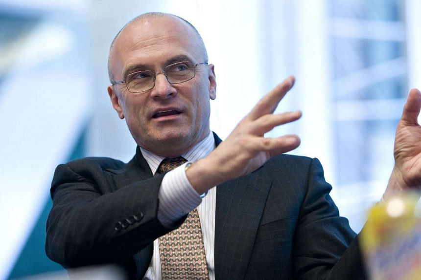 Andrew Puzder pictured at an editorial board meeting in New York, in March 2009.