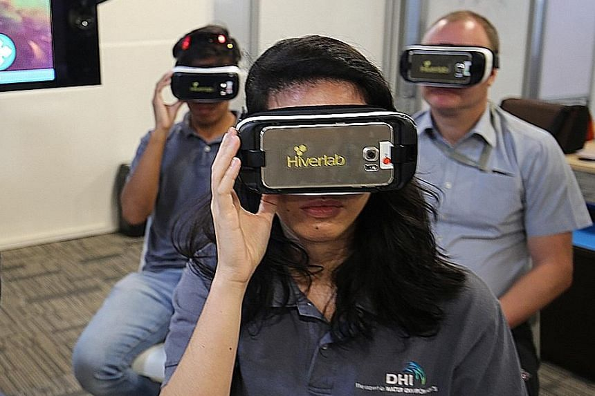 Eyes on Habitat: Coral Reefs allows users to explore the reefs at Sisters' Islands through virtual reality. The software was launched yesterday at the National Design Centre in Bugis.