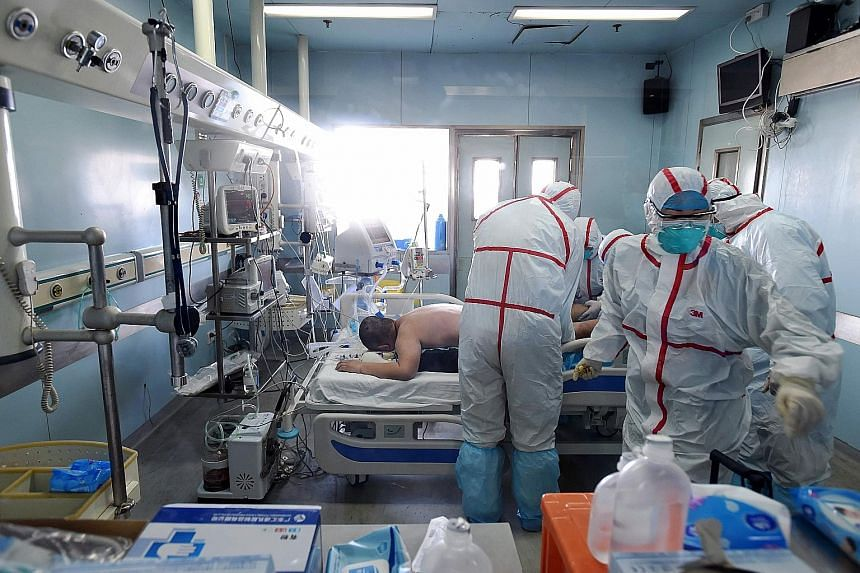 A photo taken on Sunday shows an H7N9 bird flu patient being treated in a hospital in Wuhan, in central China's Hubei province. A number of provinces in China have stepped up prevention efforts against the virus.