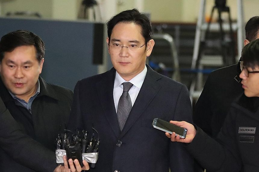Mr Lee, chief of the Samsung Group, was grilled this week for the second time in a month.