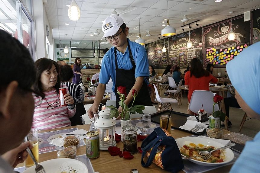 The Association for Persons with Special Needs has opened its first social enterprise cafe, Mystical Cafe For All, at its Centre for Adults at the Kembangan-Chai Chee Community Hub. Manned by trainees with special needs, the cafe provides them with w
