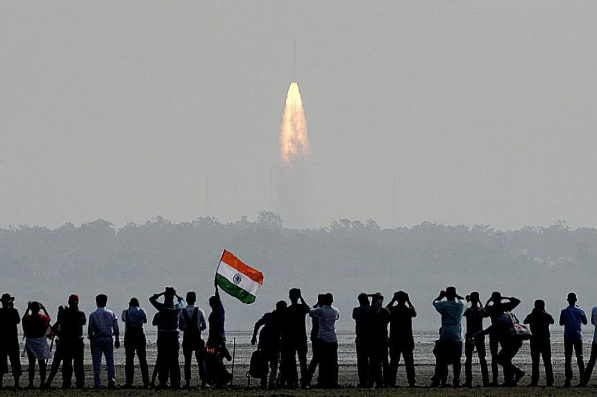 The 104 satellites, weighing 1,378kg in total, were launched at one go aboard the PSLV rocket yesterday in Sriharikota, India.