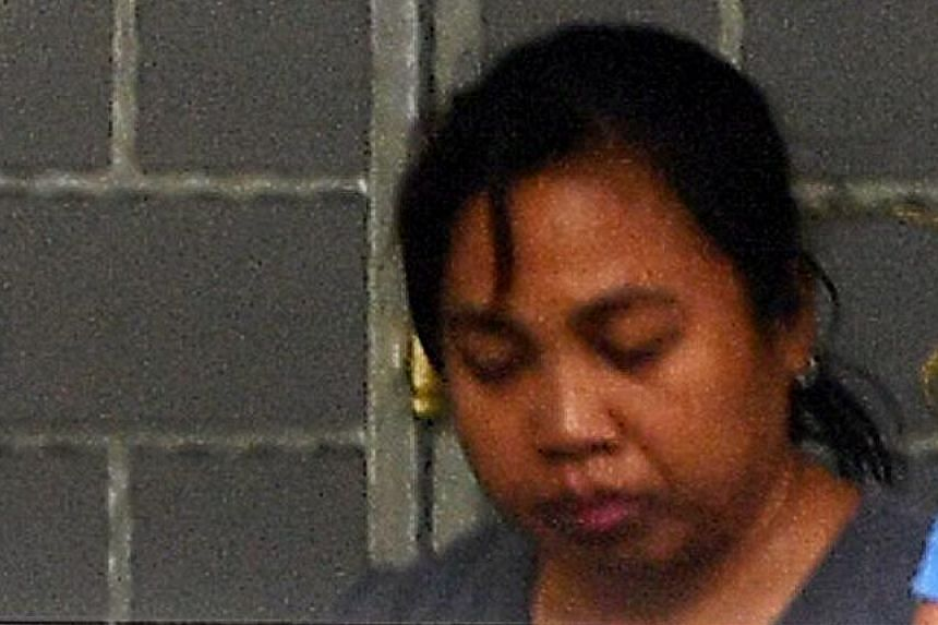 Minah is accused of killing Madam Tay in a Tampines flat on Monday.