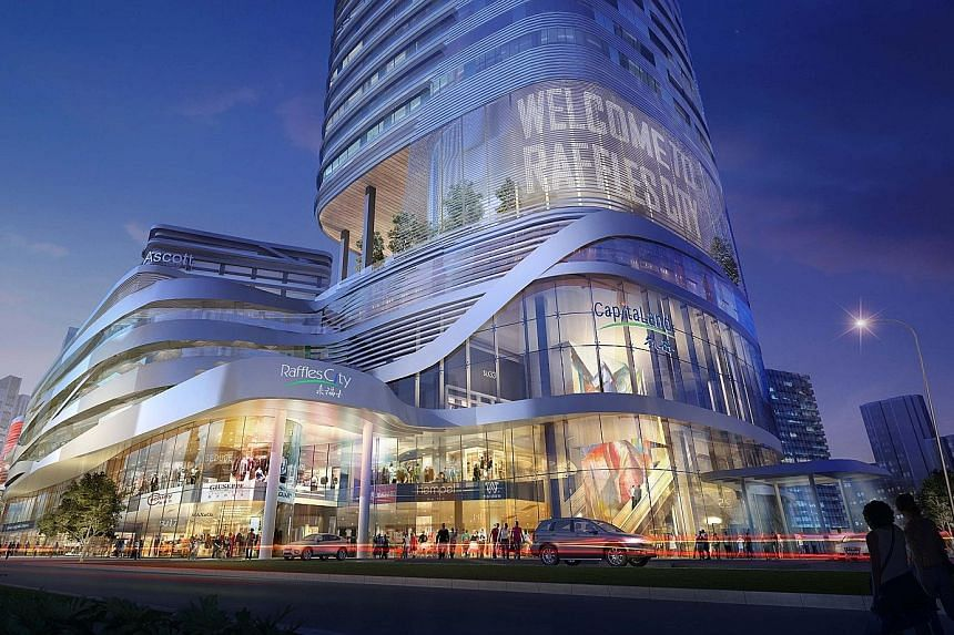 Raffles City Shenzhen is one of the eight malls that CapitaLand will be opening this year. The developer is now in a very resilient position, said its CEO, following last financial year's good results.