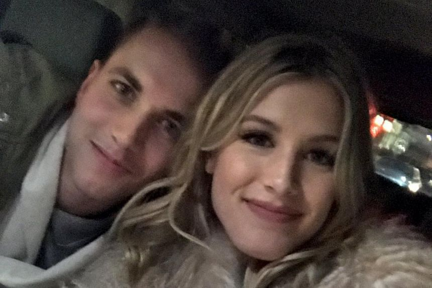 Tennis star Eugenie Bouchard tweeted a photo of herself with blind date John Goehrke while heading to the NBA game between the Brooklyn Nets and the Milwaukee Bucks on Feb 15, 2017.