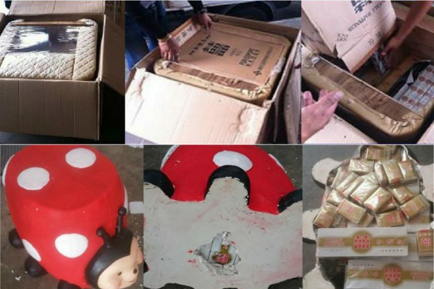 Some of the methods of concealment that offenders use to smuggle illegal items.