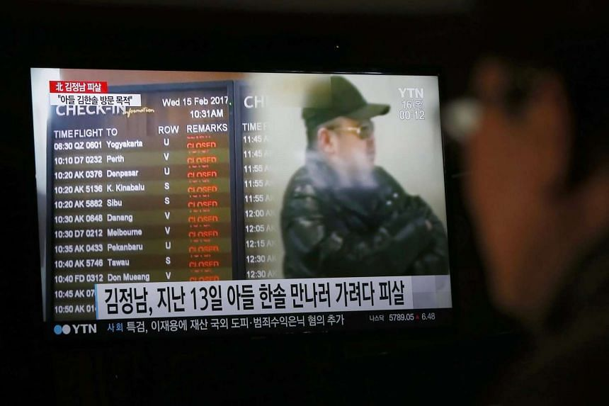 A South Korean watches a television broadcast about the alleged assassination of North Korean leader Kim Jong Un's half-brother, at a restaurant in Pyeongchang on Feb 15, 2017.
