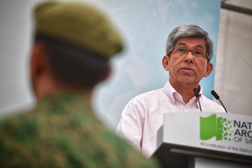 Minister for Communications and Information Yaacob Ibrahim speaking before the launch of a new World War II exhibition Syonan Gallery: War And Its Legacies on Feb 15, 2017.