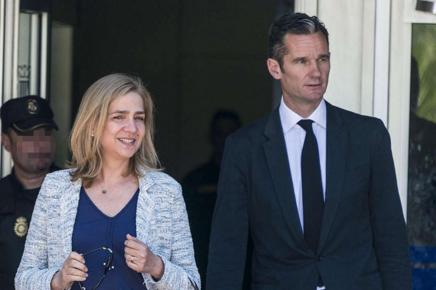Spanish Princess Cristina and her husband, Inaki Urdangarin, leaving the Balearic Academy of Public Administration (EBAP) after attending a session of the trial in Palma de Mallorca, Balearic Islands, Spain on June 22, 2016.