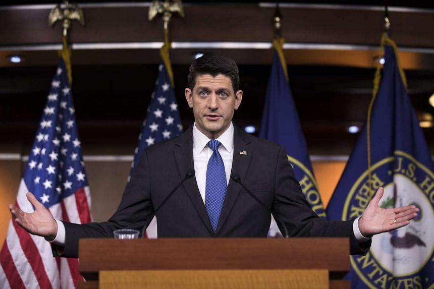 US Republican Speaker of the House from Wisconsin Paul Ryan speaks to the media at his weekly press conference in the US Capitol in Washington, DC, USA, on Feb 16, 2017.