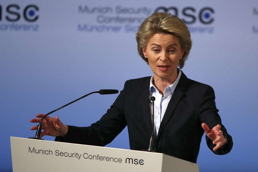 German Defence Minister Ursula von der Leyen speaks at the opening of the 53rd Munich Security Conference in Munich, Germany, on Feb 17, 2017.