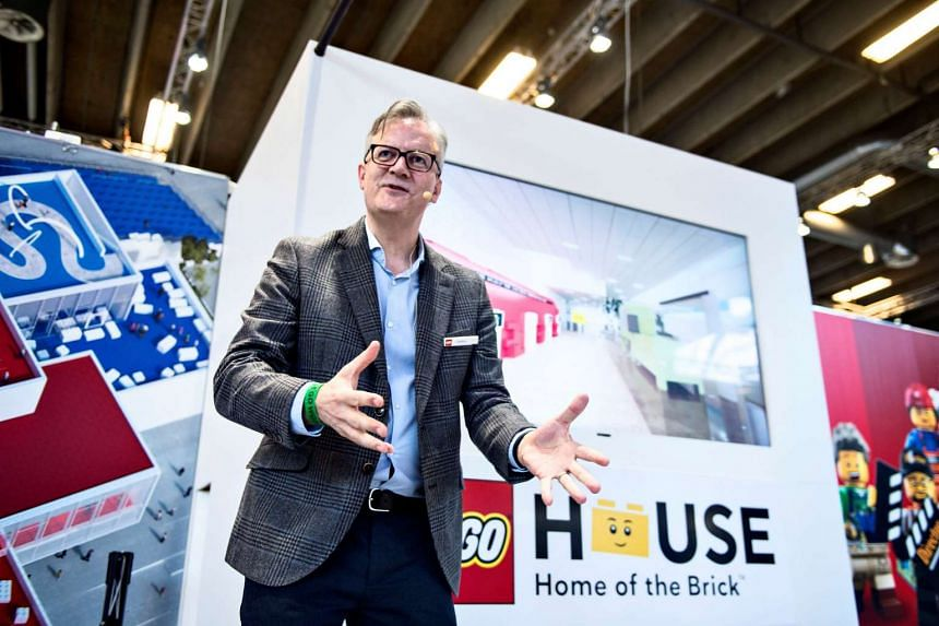 Head of Experience Development Soeren Holm speaking during a news conference, as LEGO prepares to open the LEGO House Experience Centre, in Copenhangen, on Feb 16, 2017.