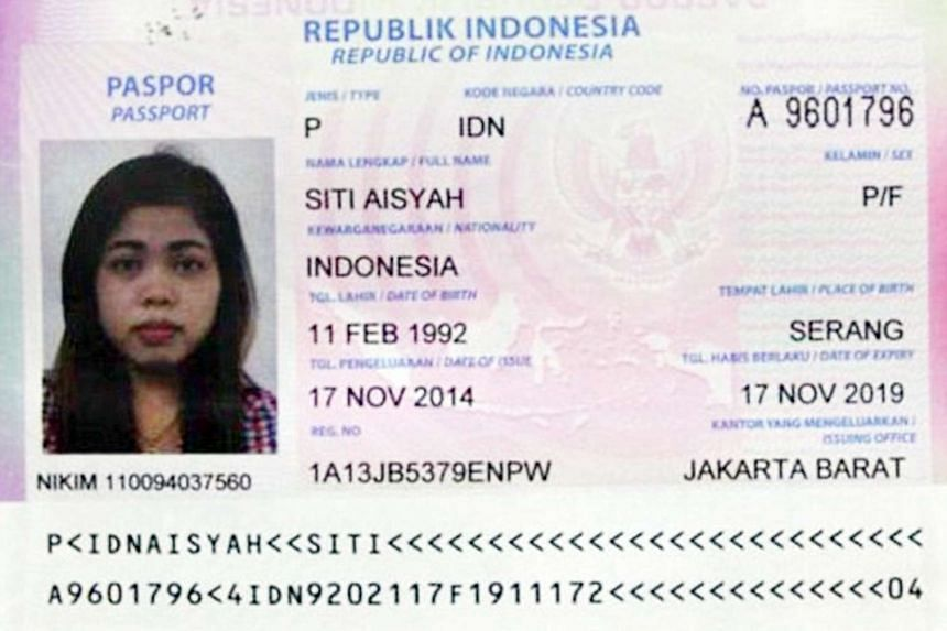 A passport believed to be that of the second suspect.