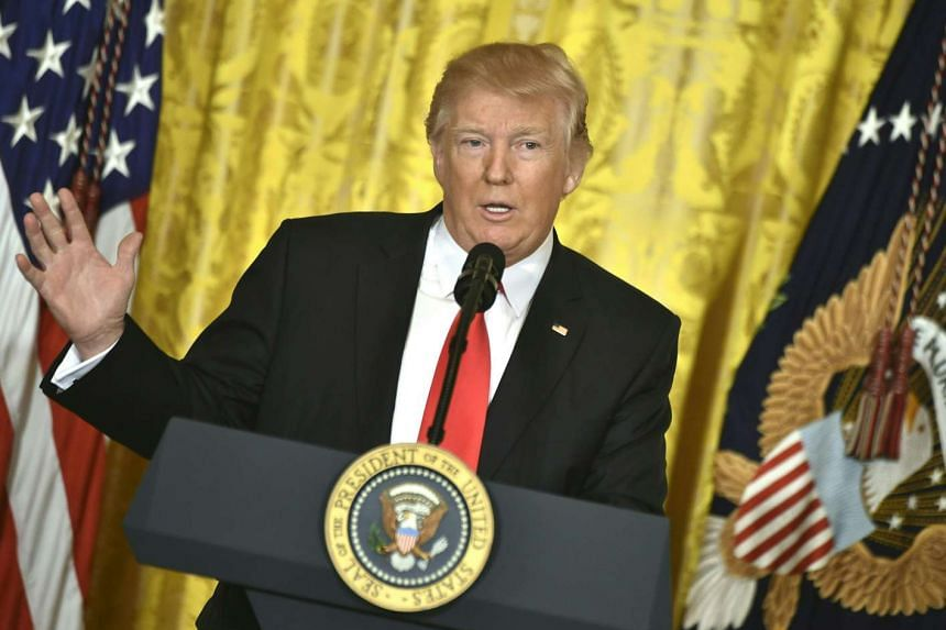 US President Donald Trump speaks during a press conference on Feb 16, 2017, at the White House.