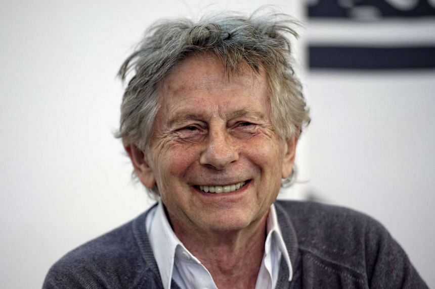 Roman Polanski posing during a conference at the Paris Book Fair in 2015.
