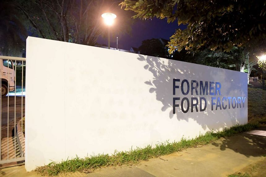 The signage for the Syonan Gallery exhibition was removed from the front of the Former Ford Factory on Feb 17, 2017.