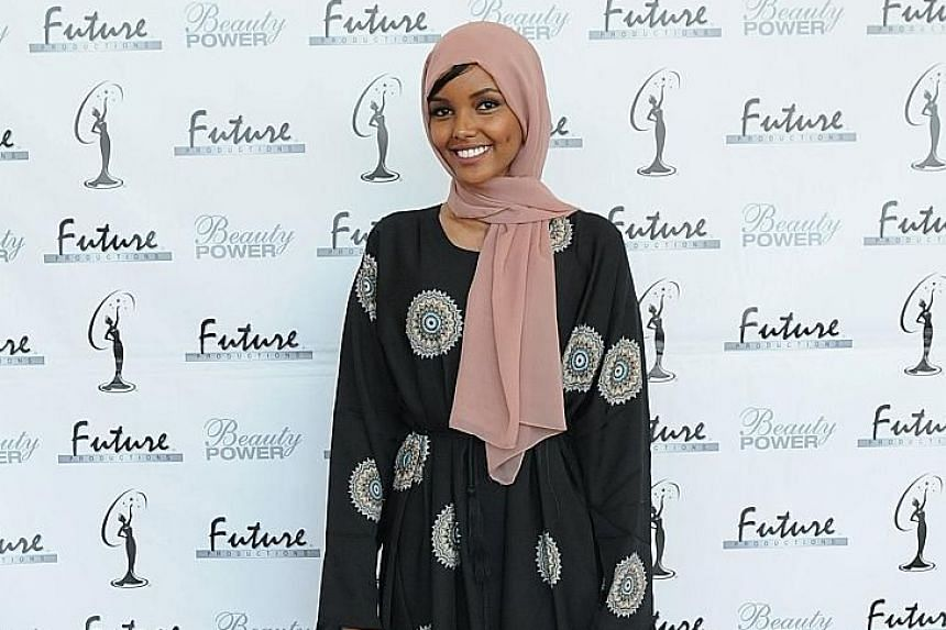 Halima Aden at the Miss Minnesota USA competition last November.