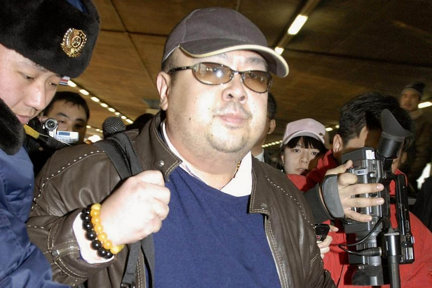 Kim Jong Nam arriving at Beijing airport in Beijing, China, in this photo taken by Kyodo on Feb 11, 2007.